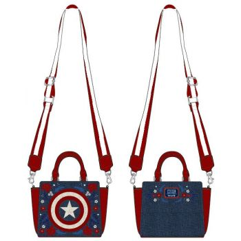 Marvel by Loungefly sac à bandoulière Captain America 80th Anniversary Floral Shield