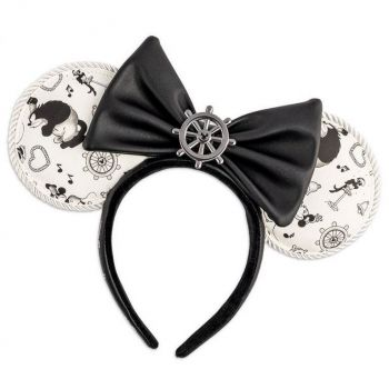 Disney by Loungefly serre-tête Steamboat Willie Ears Bow Rope Piping