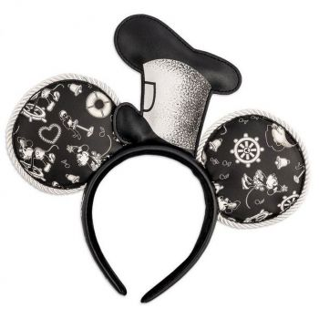 Disney by Loungefly serre-tête Steamboat Willie Applique Hat Rope Piping Ears