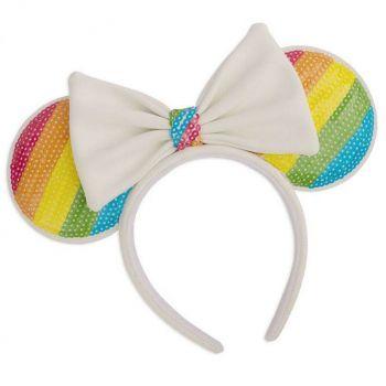 Disney by Loungefly serre-tête Sequin Rainbow Minnie Ears