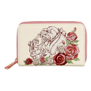 Disney by Loungefly Porte-monnaie Beauty and the Beast Flowers heo Exclusive