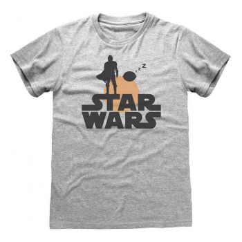 Star Wars The Mandalorian T-Shirt Silhouette