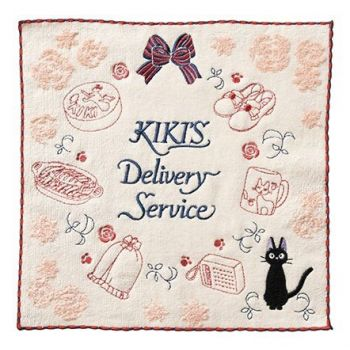 Kiki la petite sorcière serviette de toilette mains Kiki Mercy 25 x 25 cm