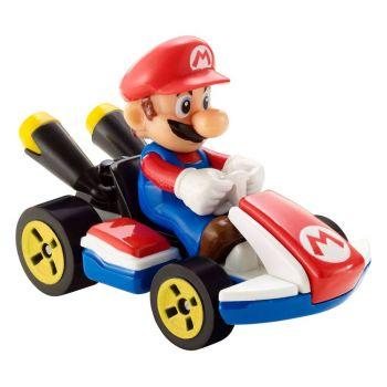 Mario Kart Hot Wheels véhicule métal 1/64 Mario (Standard Kart) 8 cm