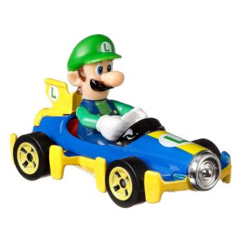 Mario Kart Hot Wheels véhicule métal 1/64 Luigi (Mach 8) 8 cm