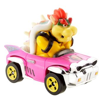 Mario Kart Hot Wheels véhicule métal 1/64 Bowser (Badwagon) 8 cm