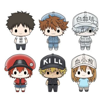Cells at Work! Chokorin Mascot Series pack 6 trading figures 5 cm