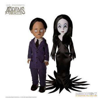 Shining Living Dead Dolls pack poupées Gomez & Morticia 25 cm