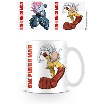 One Punch Man mug Saitama vs Boros