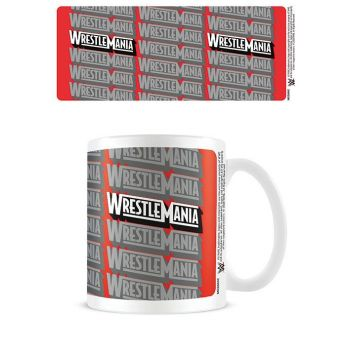 WWE mug Wrestlemania Retro Logo