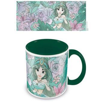 Aladdin mug Coloured Inner Floral Jasmine