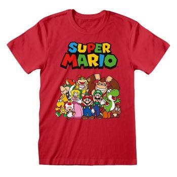 Super Mario T-Shirt Main Character Group