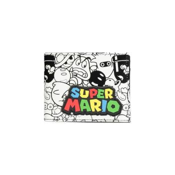 Super Mario porte-monnaie Bifold Logo