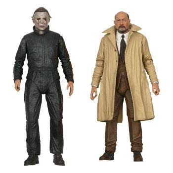 Halloween II pack 2 figurines Ultimate Michael Myers & Dr Loomis 18 cm