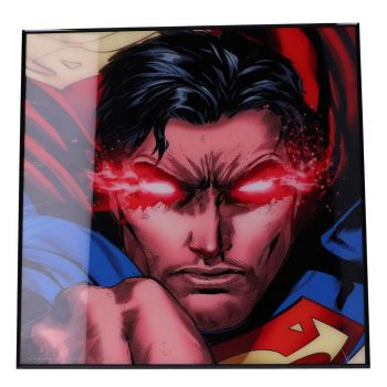Superman décoration murale Crystal Clear Picture Rebirth 32 x 32 cm