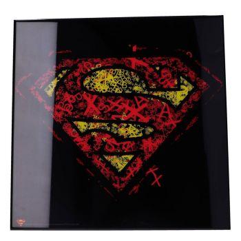 Superman décoration murale Crystal Clear Picture Superman 32 x 32 cm