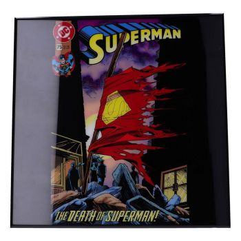 Superman décoration murale Crystal Clear Picture The Death of Superman 32 x 32 cm