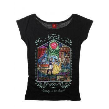 La Belle et la Bête T-Shirt femme Window Girl