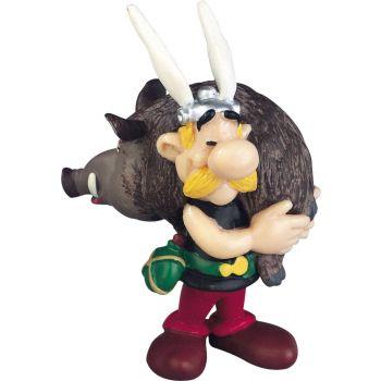Astérix figurine Asterix portant un sanglier 6 cm