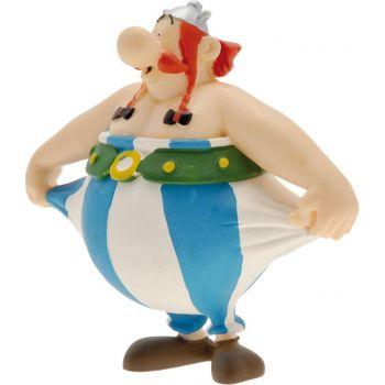Astérix figurine Obelix tenant son pantalon 8 cm