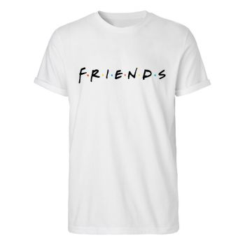Friends T-Shirt Logo Rolled Up Sleeves
