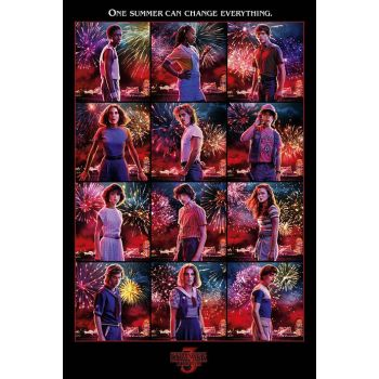 Stranger Things pack posters Character Montage S3 61 x 91 cm (5)