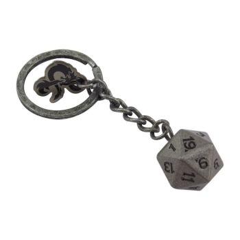 Dungeons & Dragons porte-clés métal D20