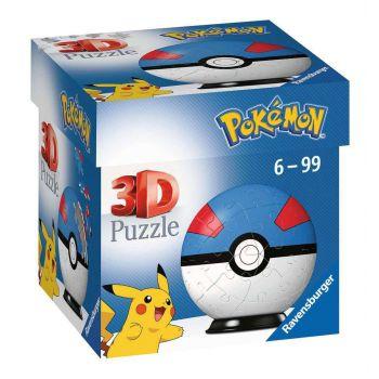 Pokémon puzzle 3D Pokéballs: Super Ball (54 pièces)