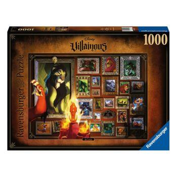 Disney Villainous puzzle Roi lion - Scar (1000 pièces)