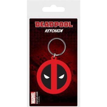 Marvel Comics porte-clés caoutchouc Deadpool Symbol 6 cm