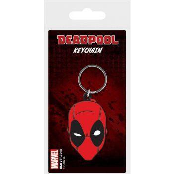 Marvel Comics porte-clés caoutchouc Deadpool Face 6 cm