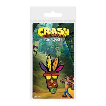 Crash Bandicoot porte-clés caoutchouc Aku Aku 6 cm