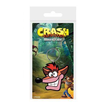 Crash Bandicoot porte-clés caoutchouc Extra Life 6 cm
