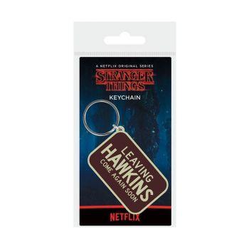 Stranger Things porte-clés caoutchouc Leaving Hawkings 6 cm