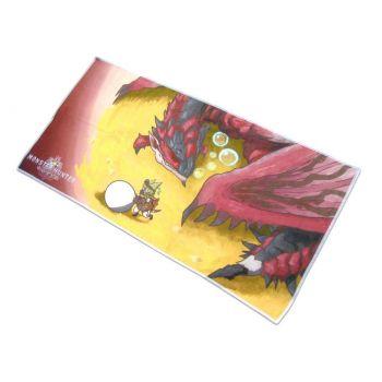 Monster Hunter World serviette de bain Rathalos & Palico Egg Quest 70 x 35 cm