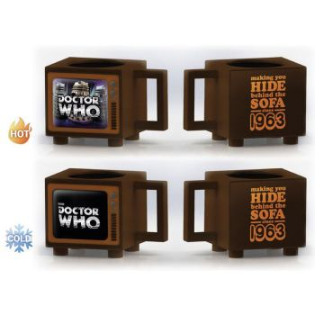 Doctor Who mug effet thermique Hide Behind the Sofa