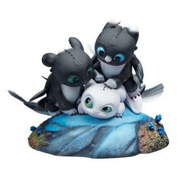 Dragons 3 : Le Monde caché statuette Flèche, Pirouette et Vifagile 15 cm