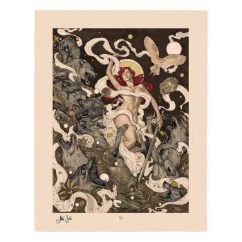 Original Artist Series impression Art Print Red by Máté Jakó 46 x 58 cm - non encadrée