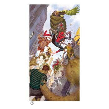 Marvel impression Art Print Spider-Man vs Sinister Six 43 x 74 cm - non encadrée