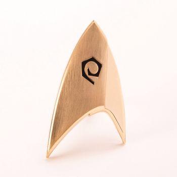 Star Trek Discovery réplique 1/1 Starfleet badge Operations Division magnétique