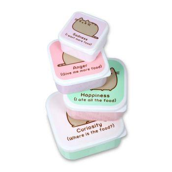 Pusheen pack 4 boîtes à goûter