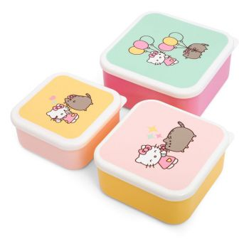 Pusheen pack 3 boîtes à goûter Hello Kitty