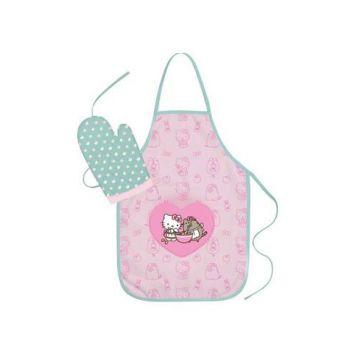 Pusheen tablier avec gant Hello Kitty