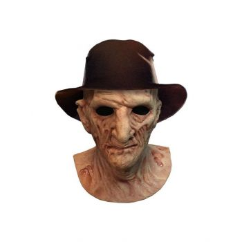 La Revanche de Freddymasque latex Deluxe avec chapeau Freddy Krueger