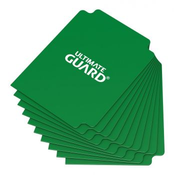 Ultimate Guard 10 intercalaires pour cartes Card Dividers taille standard Vert