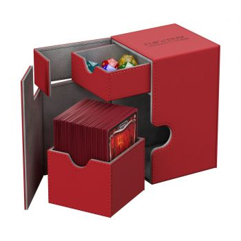 Ultimate Guard boîte pour cartes Flip´n´Tray Deck Case 100+ taille standard XenoSkin Rouge