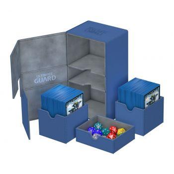 Ultimate Guard boîte pour cartes Twin Flip´n´Tray Deck Case 200+ taille standard XenoSkin Bleu