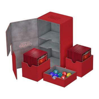 Ultimate Guard boîte pour cartes Twin Flip´n´Tray Deck Case 200+ taille standard XenoSkin Rouge