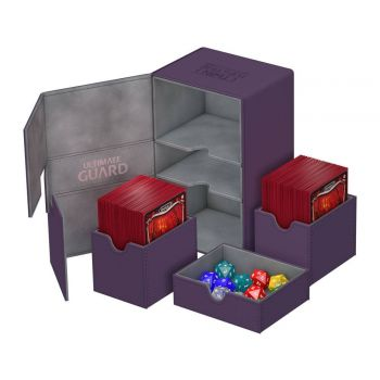 Ultimate Guard boîte pour cartes Twin Flip´n´Tray Deck Case 160+ taille standard XenoSkin Violet