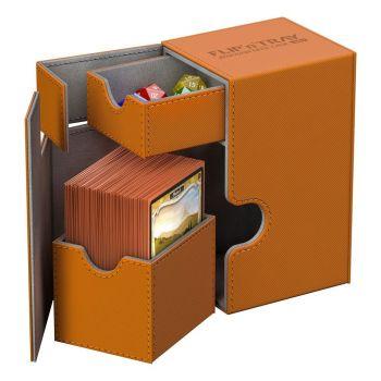 Ultimate Guard Flip´n´Tray Deck Case 80+ taille standard XenoSkin™ Orange